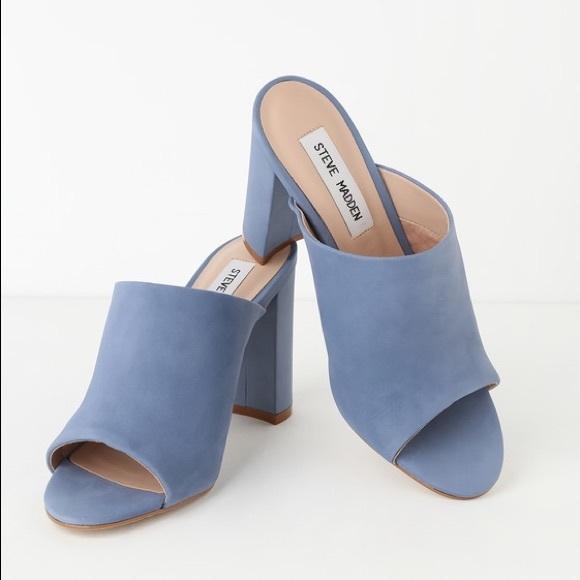 a42e7395093fb Steve Madden Esmeralda dusty blue size 7